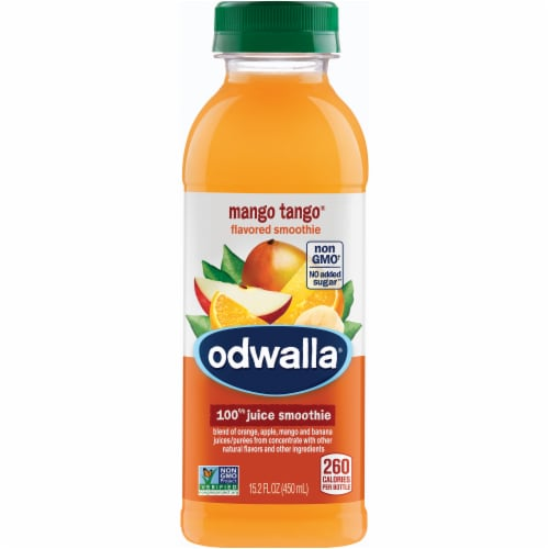 Odwalla Mango Tango 100% Juice Smoothie Perspective: front