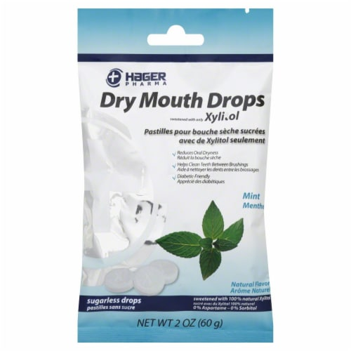 Hager Pharma Mint Dry Mouth Drops Perspective: front