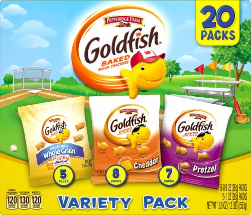Goldfish Baked Snack Crackers Variety Snack Packs Perspective: front