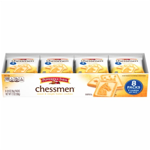 Pepperidge Farm Chessman Cookie Packs Perspective: front