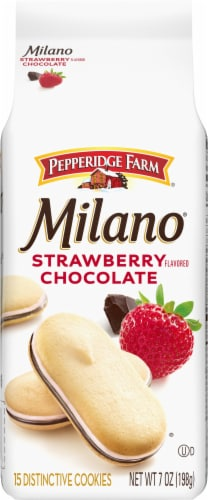 Milano Strawberry Chocolate Cookies Perspective: front