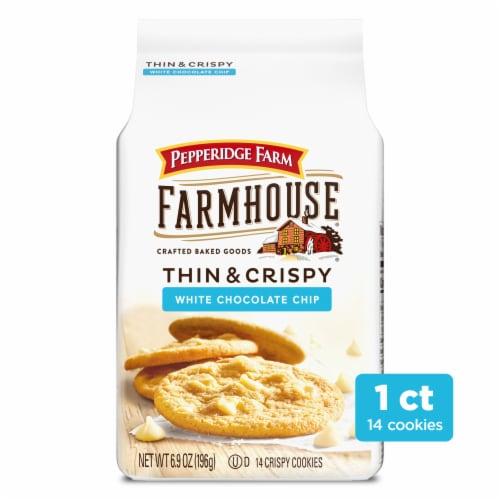 Pepperidge Farm Farmhouse Thin & Crispy White Chocolate Chip Cookies Perspective: front