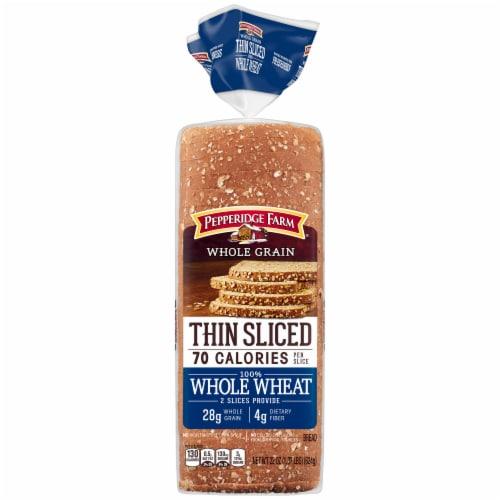 Pepperidge Farm Thin Sliced Whole Wheat Whole Grain Bread Perspective: front