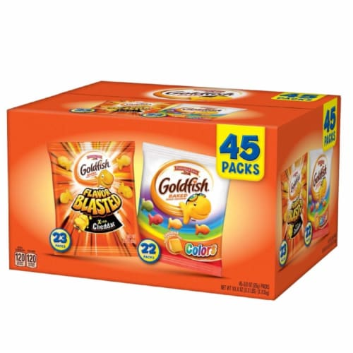 Pepperidge Farm Goldfish Variety Pack (0.9 Ounce, 45 Count) Perspective: front
