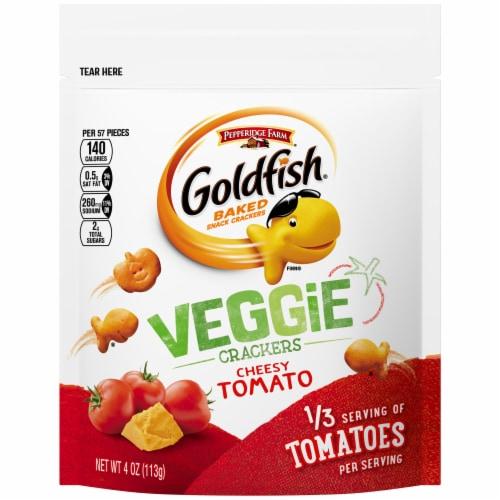 Goldfish Cheesy Tomato Veggie Crackers Perspective: front