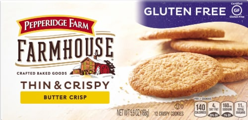 Pepperidge Farm Farmhouse Gluten Free Thin and Crispy Butter Crisp Cookies Perspective: front