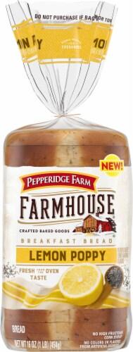 Pepperidge Farm Farmhouse Lemon Poppy Breakfast Bread Perspective: front