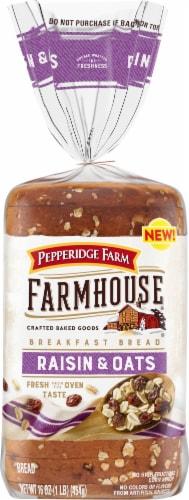 Pepperidge Farm Farmhouse Raisin & Oats Breakfast Bread Perspective: front