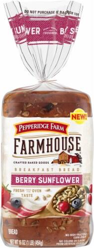 Pepperidge Farm Farmhouse Berry Sunflower Breakfast Bread Perspective: front