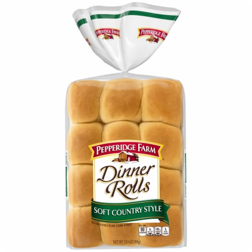 Pepperidge Farm Soft Country Style Dinner Rolls Perspective: front