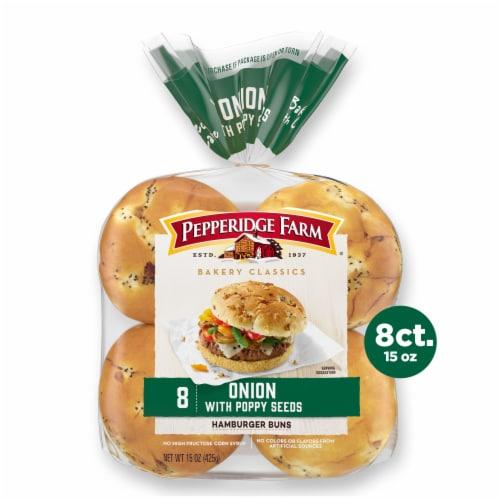 Pepperidge Farm Bakery Classics Onion Hamburger Buns Perspective: front