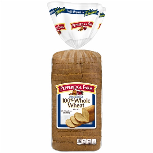 Pepperidge Farm Stone Ground 100% Whole Wheat Bread Perspective: front