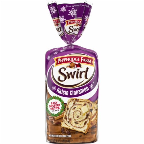 Pepperidge Farm Raisin Cinnamon Swirl Bread Perspective: front