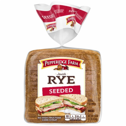 Pepperidge Farm Seeded Jewish Rye Bread Perspective: front
