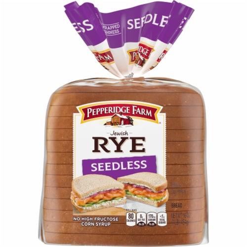 Pepperidge Farm Seedless Jewish Rye Bread Perspective: front
