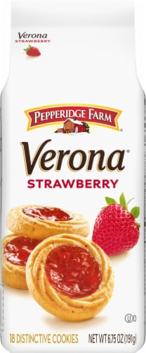 Pepperidge Farm Strawberry Thumbprint Cookies Perspective: front