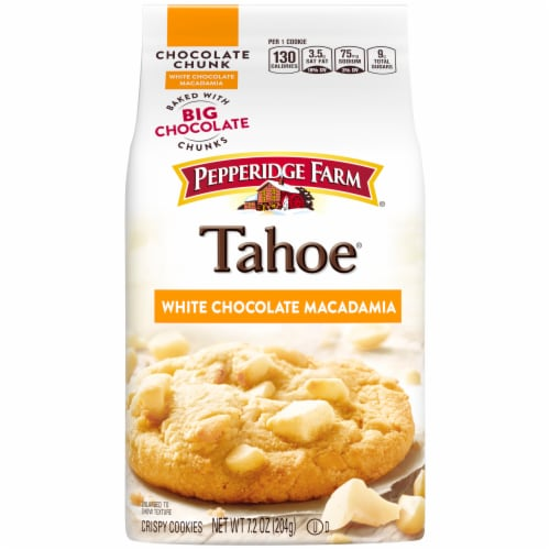 Pepperidge Farm Tahoe White Macadamia Cookies Perspective: front