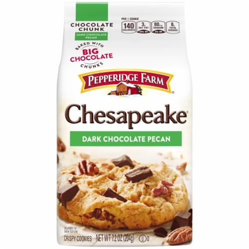 Pepperidge Farm Chesapeake Dark Chocolate Pecan Cookies Perspective: front