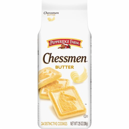 Pepperidge Farm Chessmen Butter Cookies Perspective: front