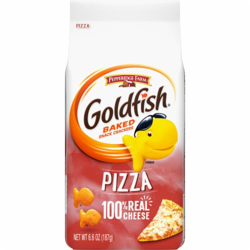 Goldfish Pizza Baked Snack Crackers Perspective: front