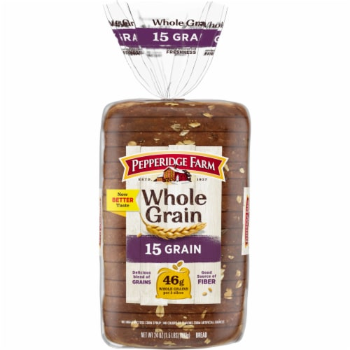 Pepperidge Farm Whole Grain 15 Grain Bread Perspective: front
