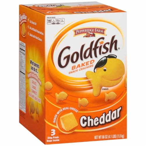 Pepperidge Farm Goldfish Crackers (66 Ounce) Perspective: front