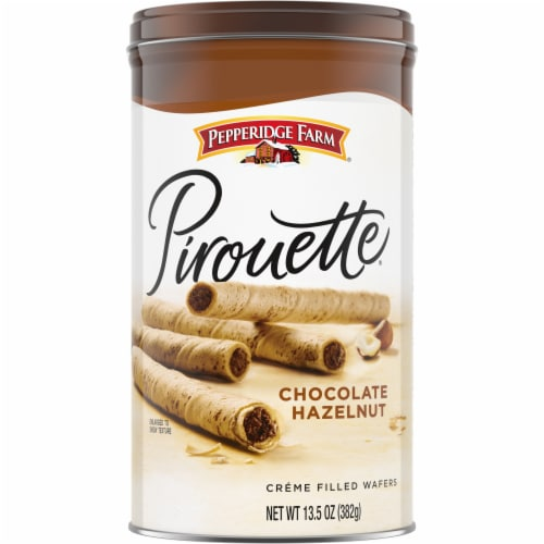 Pepperidge Farm Pirouette Chocolate Hazelnut Creme Filled Wafers Perspective: front