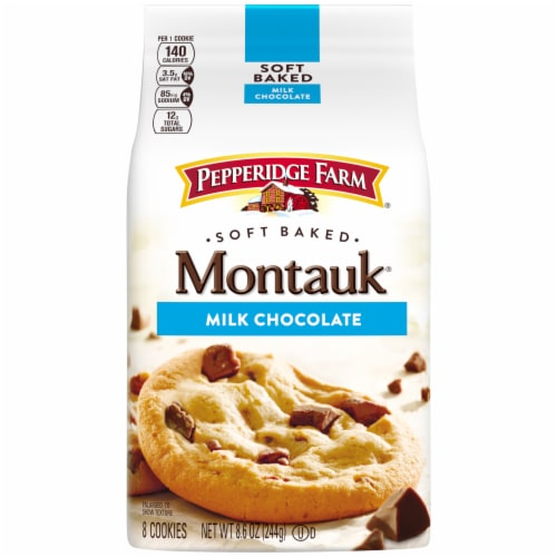Pepperidge Farm Montauk Soft Baked Milk Chocolate Cookies Perspective: front