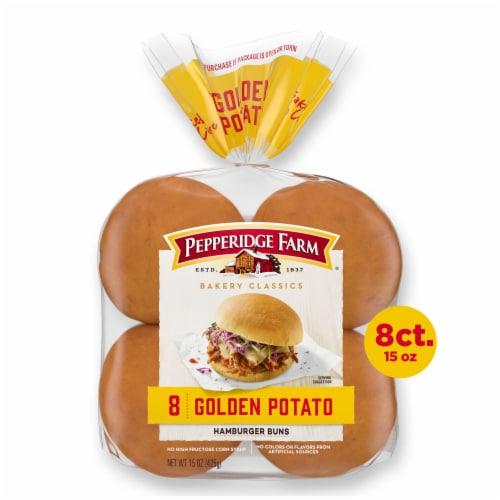 Pepperidge Farm Bakery Classics Golden Potato Hamburger Buns Perspective: front