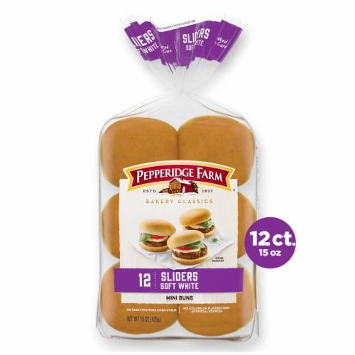 Pepperidge Farm Bakery Classics White Slider Buns Perspective: front
