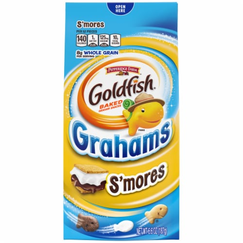 Goldfish Grahams S'mores Baked Graham Crackers Perspective: front