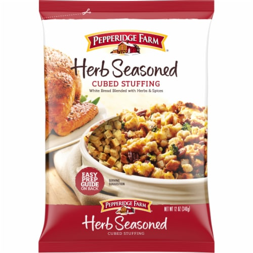 Pepperidge Farm Herb Seasoned Cubed Stuffing Perspective: front