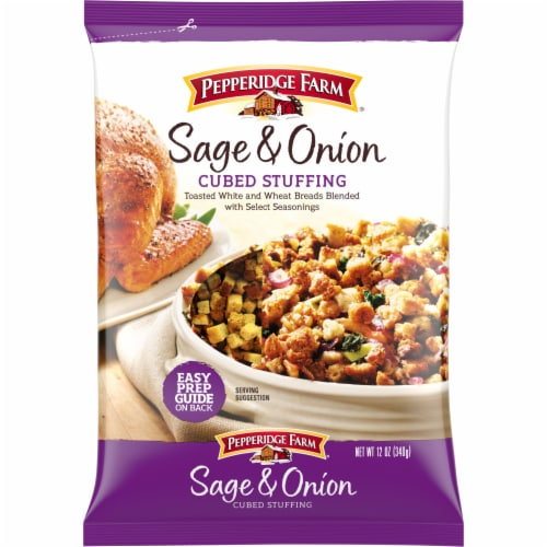 Pepperidge Farm Sage & Onion Cubed Stuffing Perspective: front