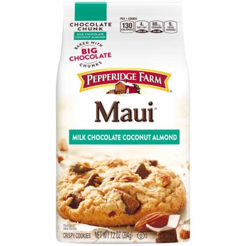 Pepperidge Farm Maui Milk Chocolate Coconut Almond Cookies Perspective: front