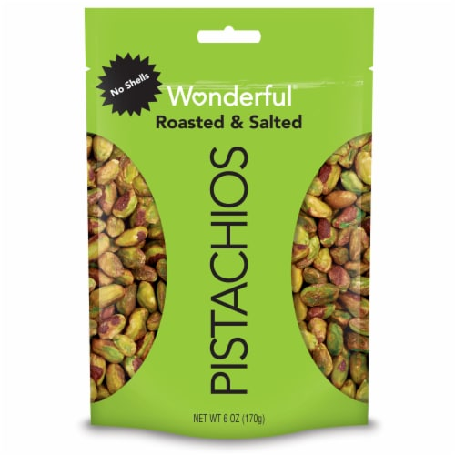Wonderful No Shells Roasted & Salted Pistachios Perspective: front