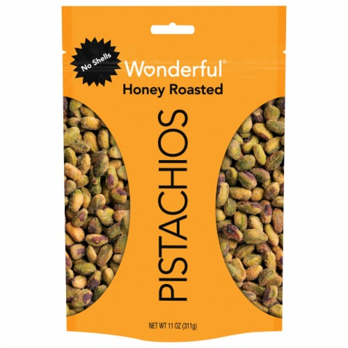 Wonderful No Shell Honey Roasted Pistachios Perspective: front