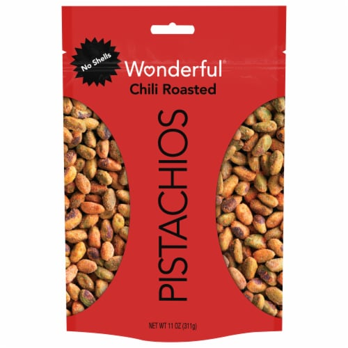 Wonderful No Shell Chili Roasted Pistachios Perspective: front