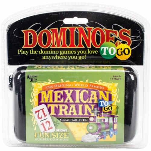 University Games 54201 Mexican Train To Go Game Perspective: front