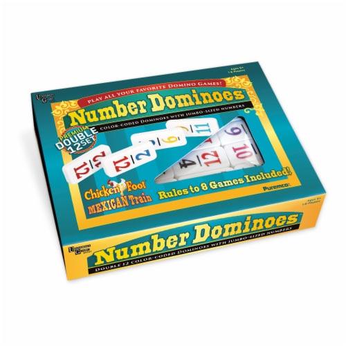University Games Premium Double 12 Set Dominoes Perspective: front