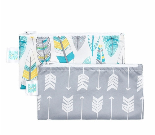 Bumkins Reusable Snack Bags - Assorted Perspective: front