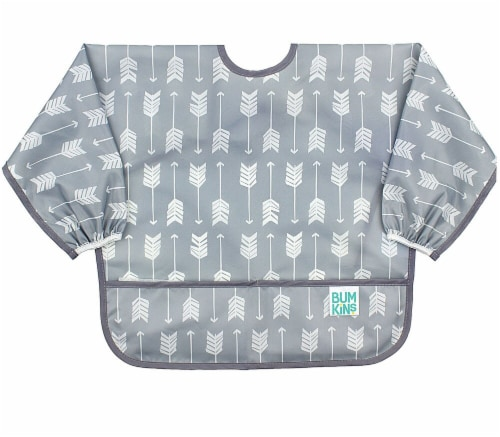 Bumkins  Sleeved Bib Grey Arrow Perspective: front