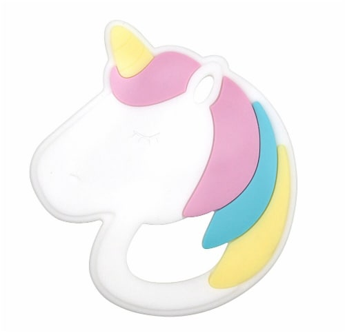 Bumkins Silicone Magical Unicorn Teether Perspective: front