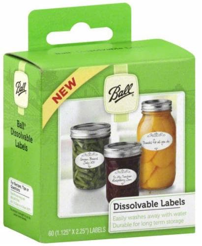 Ball Dissolvable Labels - 60 Pack Perspective: front