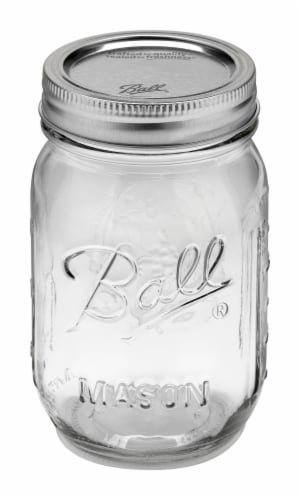 Ball Mason Jar - Clear Perspective: front