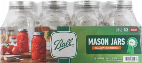 Ball® Regular Mouth Quart Jars - Clear Perspective: front