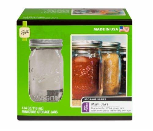 Ball® Storage Series Mini Mouth Jars - Clear Perspective: front