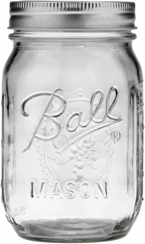 Ball® Regular Mouth Pint Jar Perspective: front