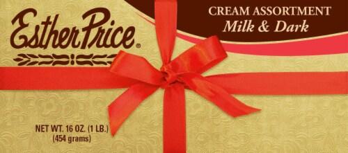 Esther Price Cream Assortment Milk & Dark Chocolates Perspective: front