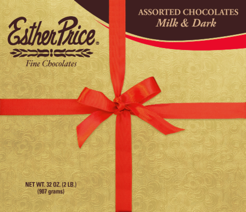 Esther Price Assorted Milk & Dark Chocolates Perspective: front