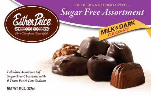 Esther Price Sugar Free Milk & Dark Chocolate Assortment Perspective: front